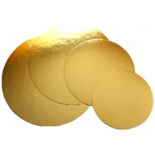 Podkład pod tort okrągły 14 cm, grubość 1,5 mm ZŁOTY