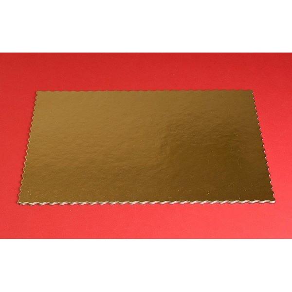 Podkład pod tort prostokątny 30x40cm grubość 0,3 cm złoty