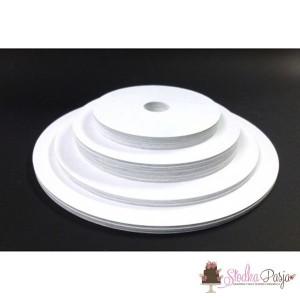 Podkład pod tort z otworem biały 5 szt - 18 cm