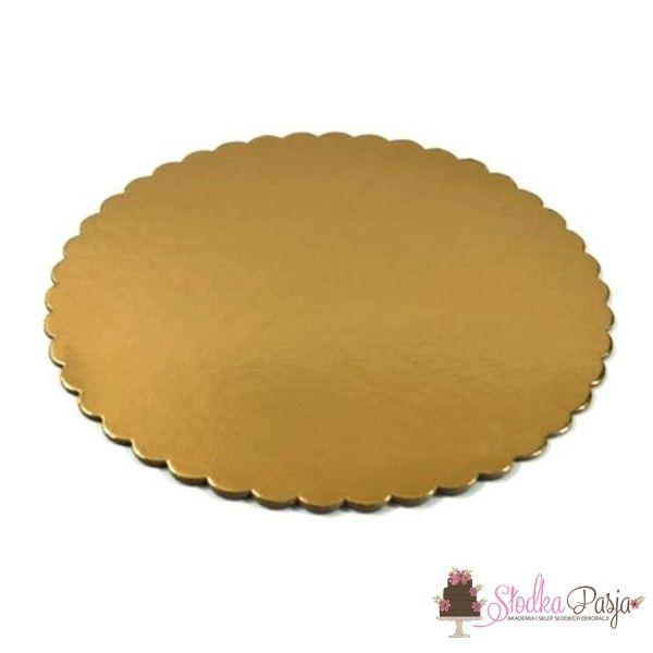Podkład pod tort okrągły 34 cm grubość 0,3 cm - ZŁOTY
