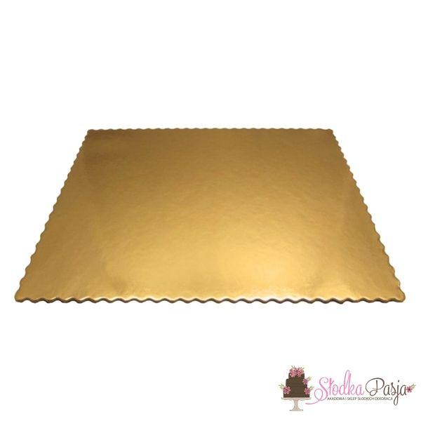Podkład pod tort prostokątny 40x50 cm, grubość 0,3 cm ZŁOTY