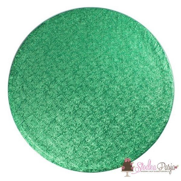 Podkład pod tort okrągły średnica 30,4 cm, grubość 1,3 cm ZIELONY