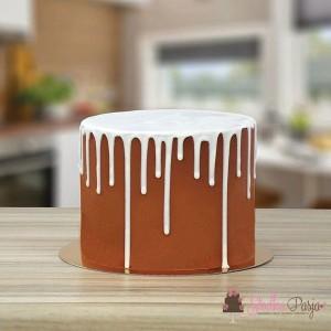 Polewa do drip cake - biała czekolada