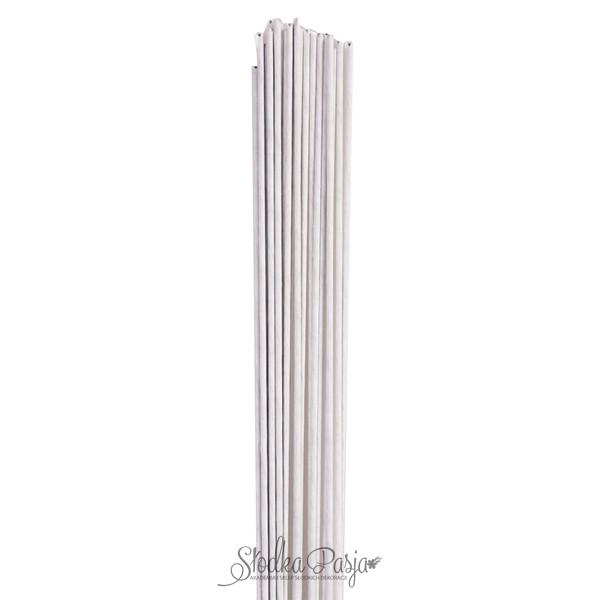 Drut florystyczny rozmiar 18, kolor biały - 20 szt.