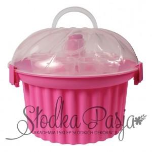 Pojemnik na 24 cupcake - różowy