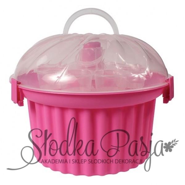 Pojemnik na 24 cupcake różowy