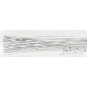 Drut florystyczny biały, rozmiar 26