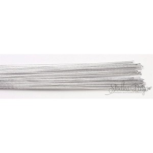 Drut florystyczny srebrny,rozmiar 24