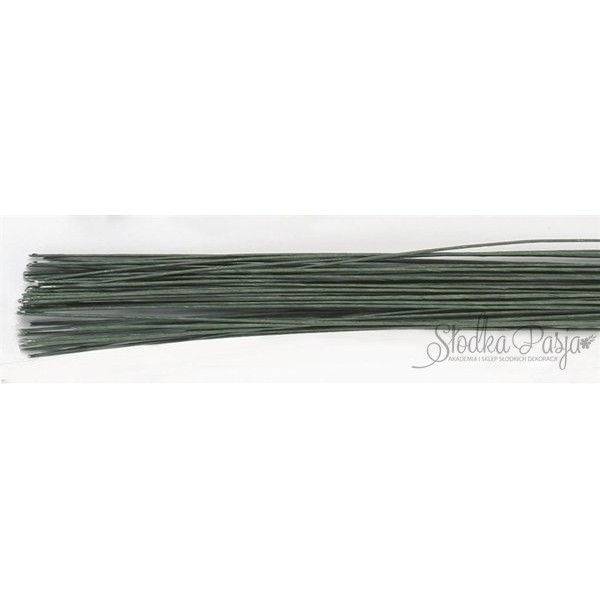 Drut florystyczny rozmiar 22, kolor zielony - 20 szt.