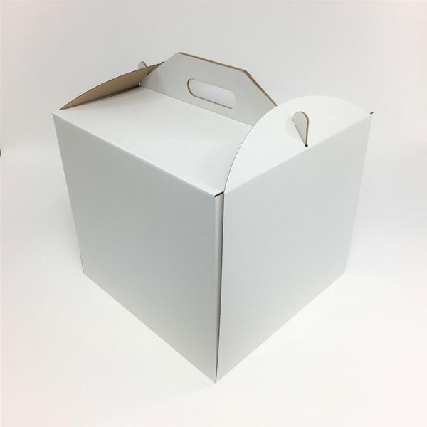 Pudełko na tort WYSOKIE z uchwytem 26x26x26 cm