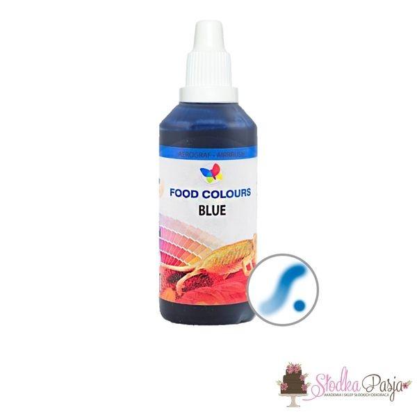 Barwnik spożywczy w płynie do aerografu FOOD COLOURS 60 ml - NIEBIESKI