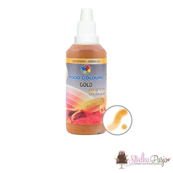 Barwnik spożywczy w płynie do aerografu złoto perła Food Colours 60 ml