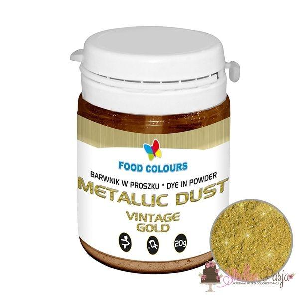 Barwnik spożywczy w pyłku Food Colours metaliczny - STARE ZŁOTO