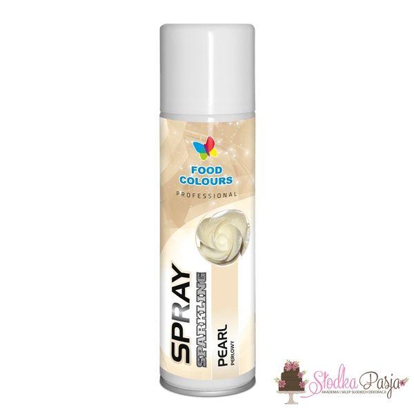 Barwnik spożywczy w sprayu FC -PERŁOWY 250 ml