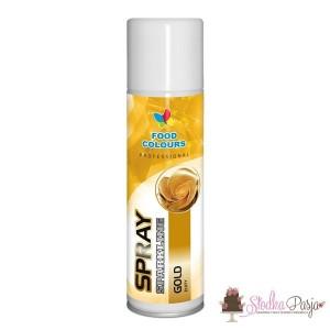 Barwnik spożywczy w sprayu FC - ZŁOTY 250 ml