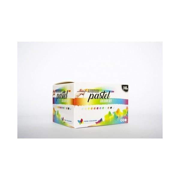 Zestaw pastelowych barwników do aerografu FOOD COLOURS - 12 szt.