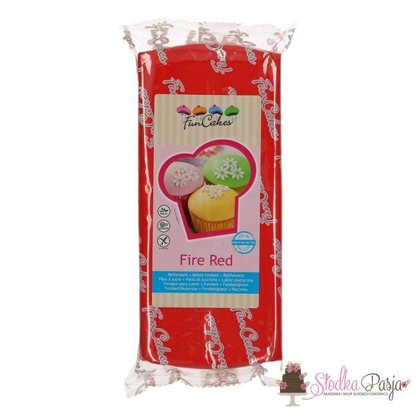 Masa cukrowa Fun Cakes 1 kg - Fire Red