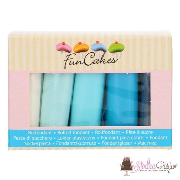 Masa cukrowa Fun Cakes 5 x 100 g - niebieska