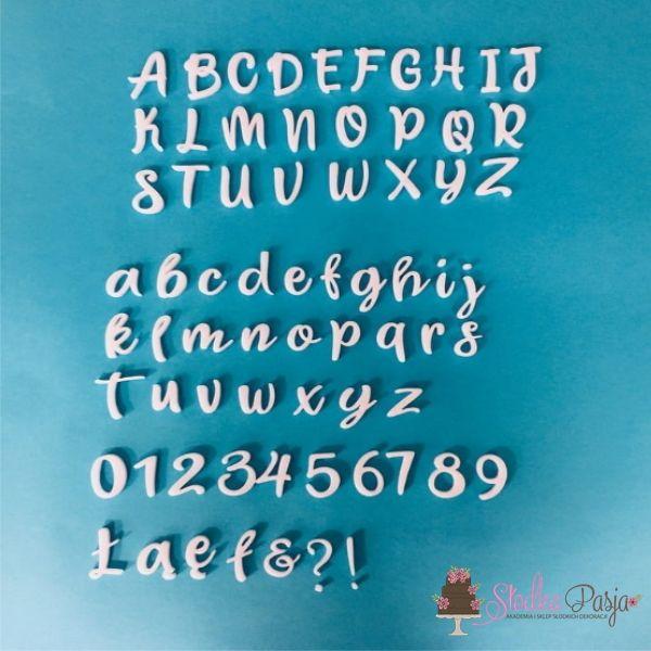 Alfabet Miniowe Formy - litery sweet
