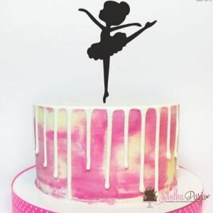 Topper Miniowe Formy Baletnica 15 cm - różowy