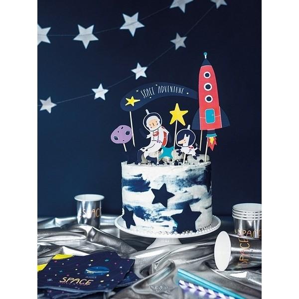 Topper na tort Kosmos 7 szt.