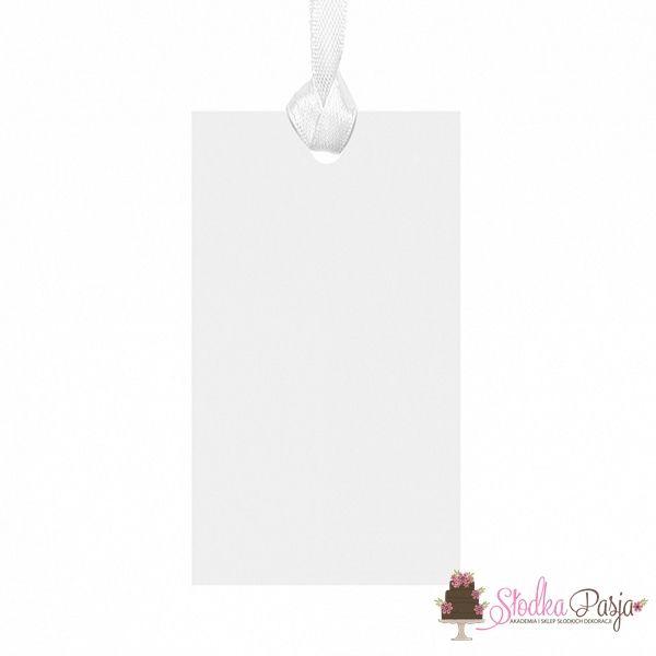 Zawieszki prostokątne białe