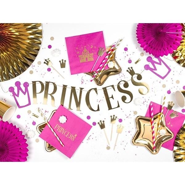 Dekoracje do muffinek Princess Korony 6 szt