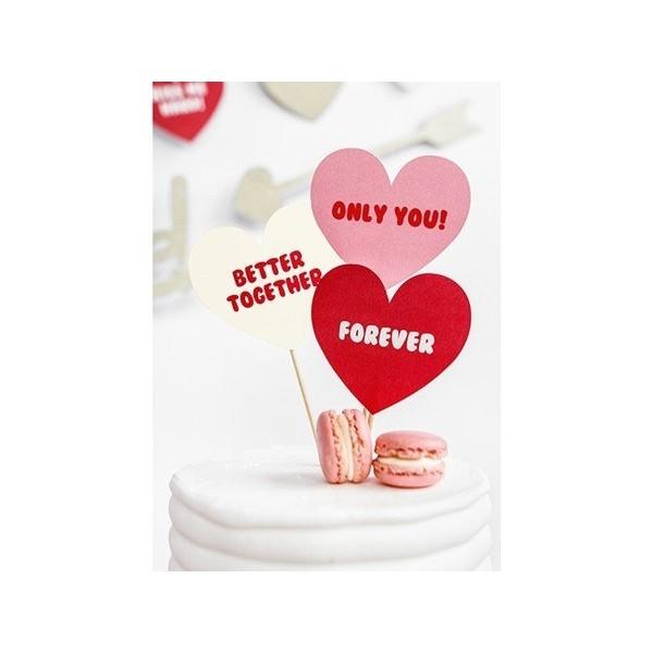 Dekoracje do muffinek Sweet Love 6 szt