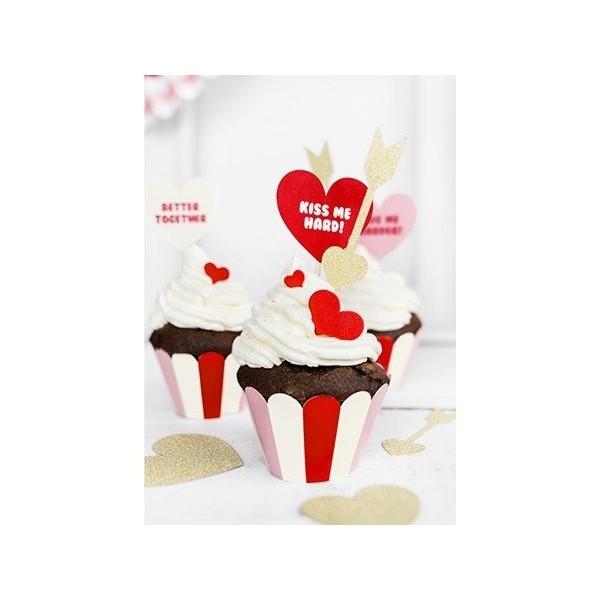 Papilotki na muffinki Sweet Love 6 szt.