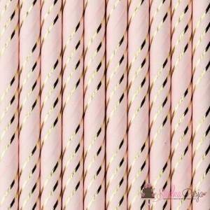 Słomki papierowe jasnoróżowe