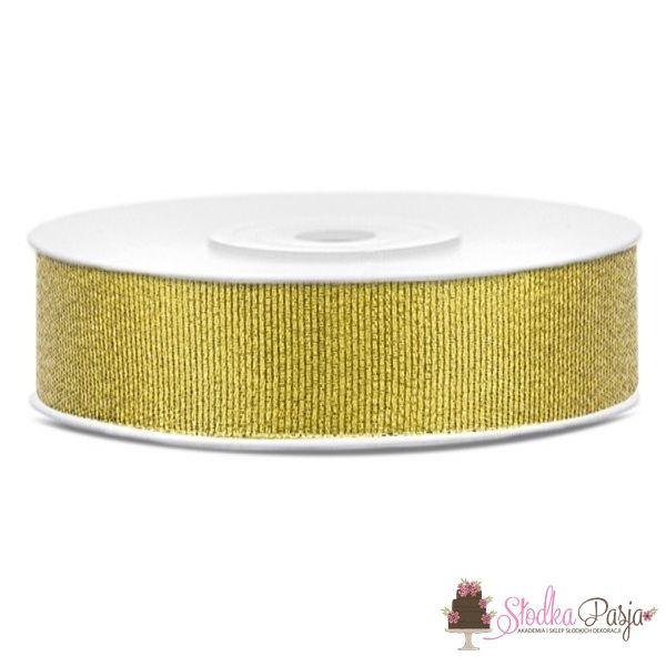 Taśma dekoracyjna brokatowa złota
