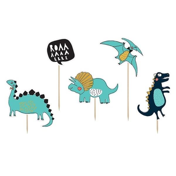 Topper na tort Dinozaury 2 5 szt.