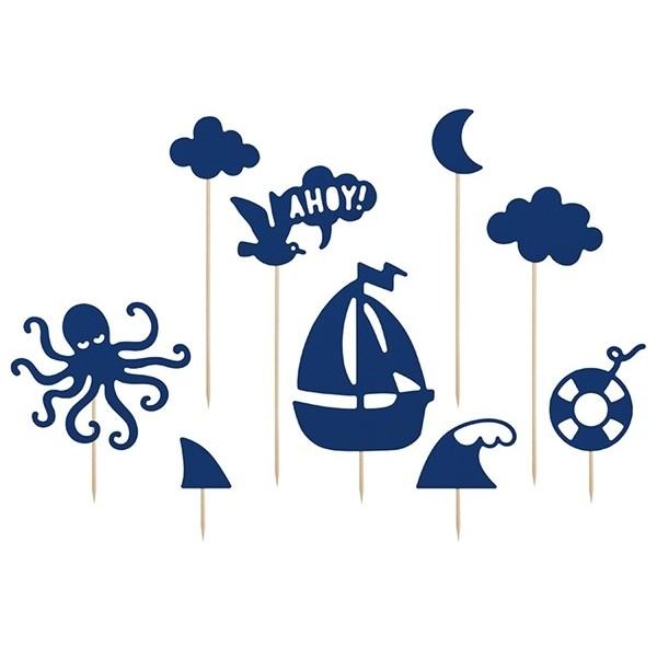 Toppery na tort Ahoy 9 szt.