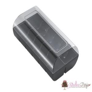 Opakowanie na makaroniki na 12 szt - czarne