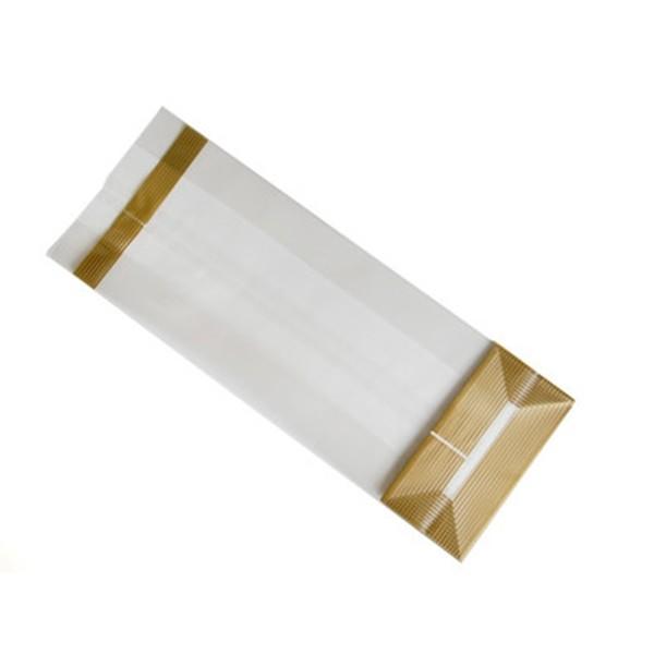 Woreczek foliowy złote paski