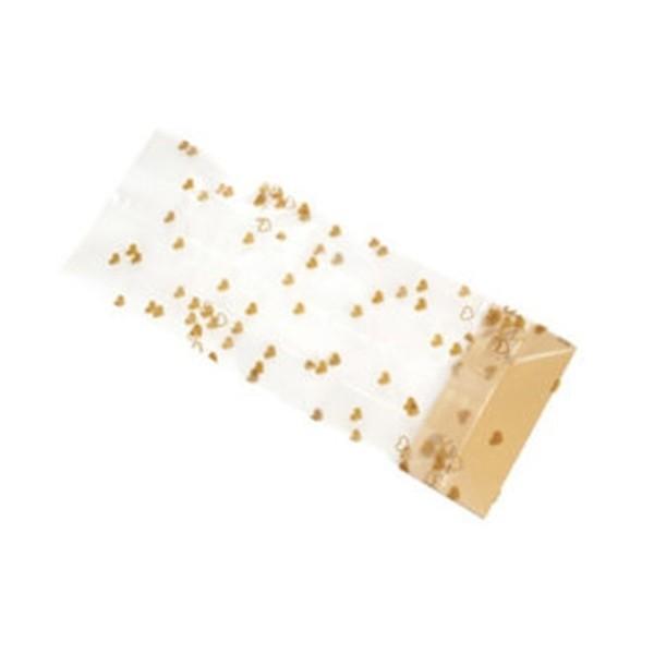 Woreczek foliowy złote serduszka