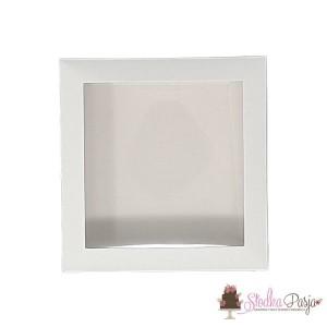 Pudełeczko z okienkiem na ciasteczka białe - 15x15x2
