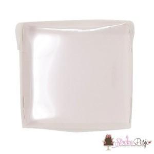 Pudełeczko z okienkiem na ciasteczka białe - 14x14x4