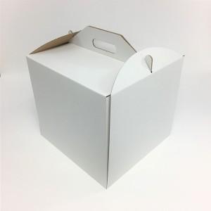 Pudełko na tort WYSOKIE z uchwytem 28x28x25 cm