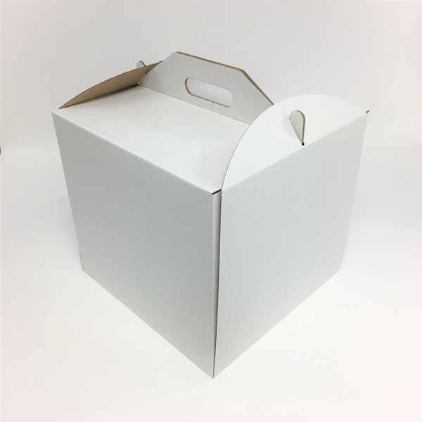 Pudełko na tort WYSOKIE z uchwytem 34x34x25 cm