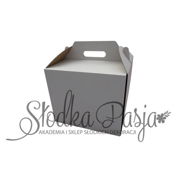 Pudełko na tort z uchwytem 28,5X28,5X15 cm