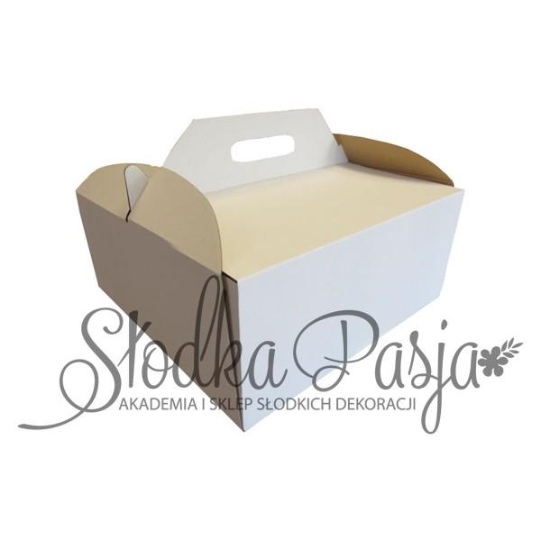 Pudełko na tort z uchwytem 35X35X15 cm