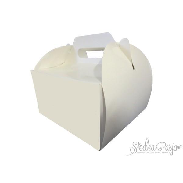 Pudełko na tort z uchwytem 22X22X12 cm