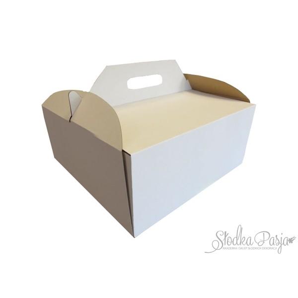 Pudełko na tort z uchwytem 24,5X24,5X15 cm