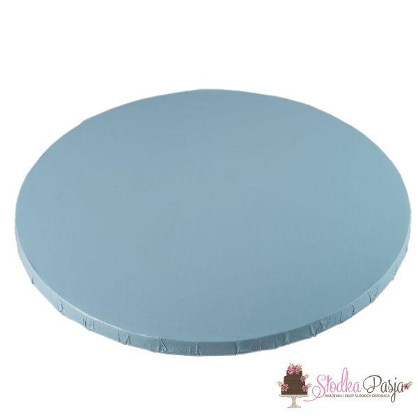 Podkład pod tort okrągły 35 cm jasnoniebieski
