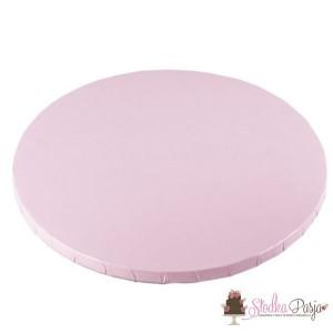 Podkład pod tort 25 cm - jasnoróżowy