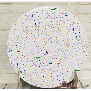 Podkład pod tort 25 cm - confetti