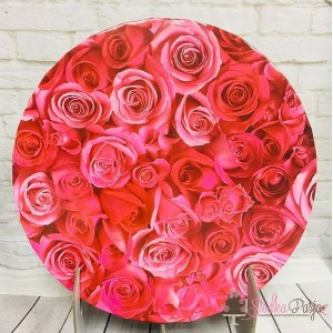Podkład pod tort 25 cm - róże