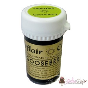 Barwnik spożywczyw żelu Sugarflair GOOSEBERRY -ZIELEŃ AGRESTOWA