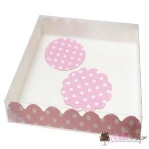 Pudełko i bileciki - Różowe w kropki